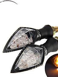 Universal Motorcycle LED Turn Signal Indicators Light Lamp Blinker Amber (2 Pcs)