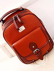 Women PU Outdoor Backpack / School Bag White / Brown / Black