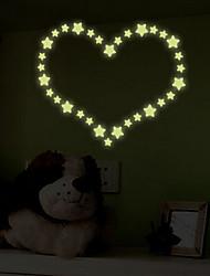 auto-adhésif stickers muraux starlette lumineux mur de fluorescence de pâte lumineuse autocollants