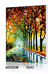 pittura a olio digitale fai da te con una solida cornice di legno famiglia pittura divertimento tutto da solo la pioggia autunnale