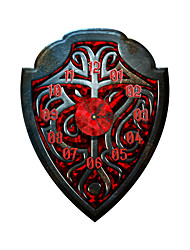 PAG®Modern 3D Effect Black and Red Shield Wall Clock 20.51*15.75 inch / 52.1*40cm