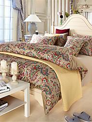 H&C 100% Cotton 1200TC Duvet Cover Set 4-Piece Checker Pattern HT1-002