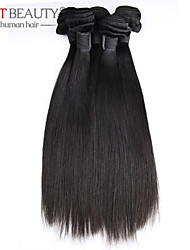 "3pcs/lot 8""-30"" Remy Human Hair Virgin Malaysian Hair Straight Natural Black Hair Weft"
