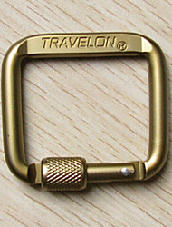 Outdoor Multifunction Aluminum Alloy Mountaineering Buckle(Random Color)
