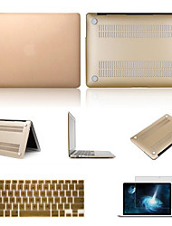"Case for Macbook Pro 13.3"" with Retina Display Solid Color Plastic Material Solid Colors Hard Full Body Case with Screen Protector and Keyboard Cover"