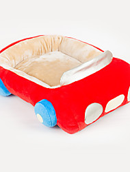 Red Polyester Cute Car Shape Pet Bed for Dogs Cats 58x45cm / 23*18inch