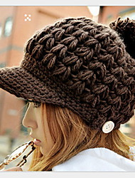 Women Wool Knitting Wool Hat Duck Tongue Hat