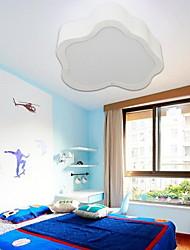 instalación al ras de luz blanca 32w 220v moda nubes sencilla y moderna