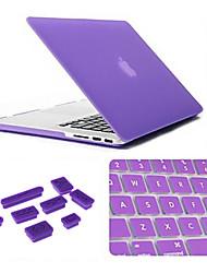 3 dans 1 cas mat avec couvercle du clavier et de la fiche de poussière en silicone pour MacBook Air 13,3 pouces (couleurs assorties)
