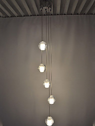 LED Crystal Pendant Lights Ceiling Chandeliers Lamps Lighting with 5 Bulbs Ac100 to 240 LED G4 Source CE UL