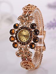 donne della vigilanza casuali del modo veste le vigilanze fiore braccialetto signore orologio da polso femminile originale orologio