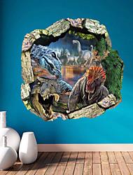 настенные наклейки наклейки, 3d девственные леса динозавры ПВХ стены стикер
