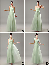 Mix & Match Dresses Floor-length Tulle 4 Styles Bridesmaid Dresses (3789964)
