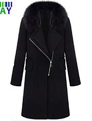 ZAY Women's Winter Fashion Ethos Long Sleeve Long Trench Coat