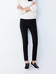 Women's Solid White/Black Suit Pants , Casual