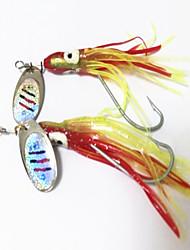 """18 pc Esche rigide Esca Esche rigide g/Oncia mm/2-3/8"""" pollice Pesca con esca"""
