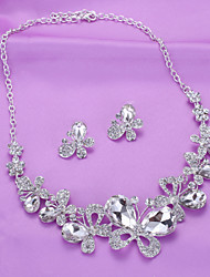 Bridal Jewelry Butterfly Necklace Necklace Wedding Accessories Earrings Necklace Set