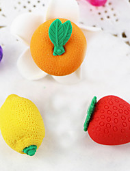 Cartoon Fruit Strawberry DIY Rubber Eraser School Student Children Prizes Gift Promotion Assemble Toy Random Color