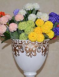 Poliéster Hortênsia / Cravo Flores artificiais