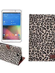 Leopard-Lederkasten mit Halter&Kartensteckplätze&Brieftasche für Galaxy Tab ein 8.0 / t350