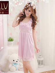 SKLV Women's Polyester/Lace Robes/Ultra Sexy/Suits Backless Nightwear/Lingerie