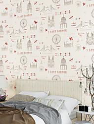 neue Regenbogen ™ modernen Tapete Art-Deco-roten und schwarzen Wandverkleidung Vlies Wandkunst