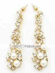 Earring Drop Earrings Jewelry Women Alloy / Imitation Pearl / Cubic Zirconia 1set Gold