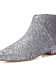 Women's Shoes The new Europe and America Martin boots and bare scalp toe leather boots women sequins flat boots women