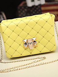 Handcee® Hot Sale Quilted Woman PU Shoulder Bag with Long Chain