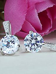 2015 newst 925 boucles d'oreilles en argent sterling argent sterling simples étincelante de diamants