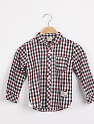 Boy's Summer/Spring Inelastic Thin Long Sleeve Shirt (Polyester)