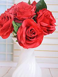 hochwertigen Kunstblumen für Heimtextilien helle Farbe stieg silk Blume für Hochzeitsstrauß Schmuck
