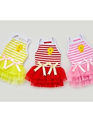 Dog Dress Red / Pink / Yellow Summer Bowknot / Cartoon