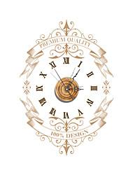 pag®vintage bois effet 3D horloge murale 22.79 * 15.75 pouces / 57,9 * 40cm
