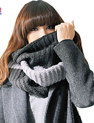 Waboats Winter Women Thick Knitted Mixed Infinity Loop Scarf