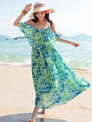 Broken Beautiful Condole Belt Bohemia Resort Beach Posed Dress Green