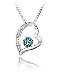 Austrian import crystal necklace High-end jewelry contracted Wholesale heart-shaped diamond necklace