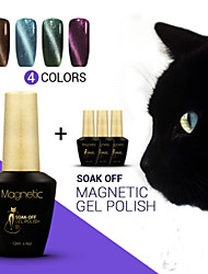 Azure 4Pcs/Lot  UV Cat Eyes Magnetic UV Gel Polish Gel Soak off Nails Manicure Art lasting Lacquer (#83+#84+#85+#86)