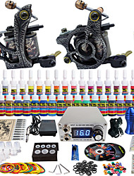 solong tattoo compleet tattoo kit pro 2 machinegeweren 40 inkten voeding naald grips