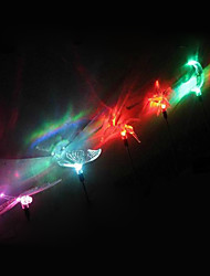 Solar Power Color Changing Garden Light Butterfly Dragonfly Bird Sun Star Shape Random