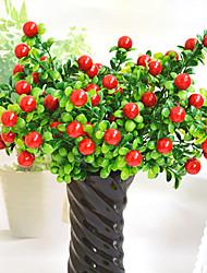"""1 Ast Polyester Kunststoff Pflanzen Tisch-Blumen Künstliche Blumen 34(13.4"""")"""