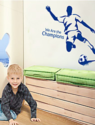 pegatinas de pared de estilo calcomanías de pared pegatinas de pared de pvc juego de fútbol