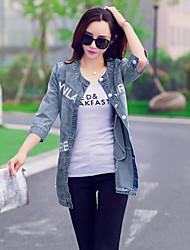Women's Sleeve Thin Denim Jacket