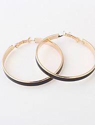Earring Hoop Earrings Jewelry Women Alloy 2pcs Gold