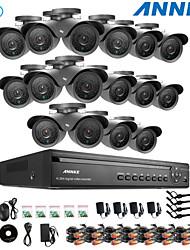 annke® DVR a 16 canali eCloud hdmi 1080p / VGA / 16pcs uscita BNC 900tvl CMOS 42leds telecamere day / night ir-cut IP66