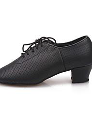 Non Customizable Women's Dance Shoes Leatherette / Synthetic Leatherette / Synthetic Modern Heels Chunky HeelPractice / Beginner /