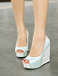 Women's Shoes Wedge Heel Peep Toe Pumps Dress More Colors available