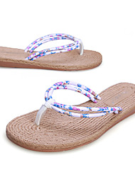 Women's Shoes Synthetic Flat Heel Flip Flops Sandals/Slippers Casual Blue/Green/Purple