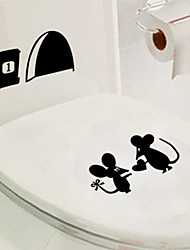Wall Stickers Wall Decals, Romantic Mouses Couple Jerry PVC Wall Sticker