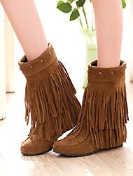 Женская обувь - Ботинки ( PU , Черный / Серый / Желтый ) Туфли на танкетке - 3-6см